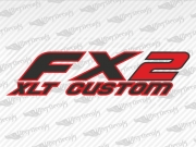 FX2 XLT CUSTOM Decals | Ford Truck and Car Decals | Vinyl Decals
