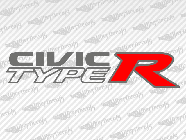 Honda CIVIC TYPE R Decal Stickers - Honda decal stickers for cars