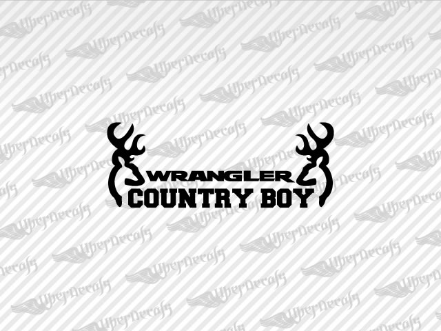 Jeep WRANGLER COUNTRY BOY Decal Stickers - Country boy decals for trucks