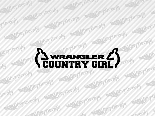 Jeep WRANGLER COUNTRY GIRL Decals Stickers - Country girl custom vinyl decals for trucks