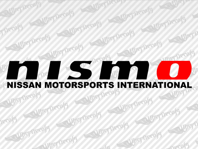 Nissan nismo logo decal stickers