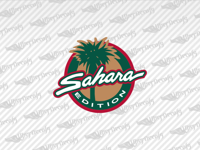 jeep wrangler sahara logo. sahara edition decals jeep truck and car vinyl wrangler logo 1