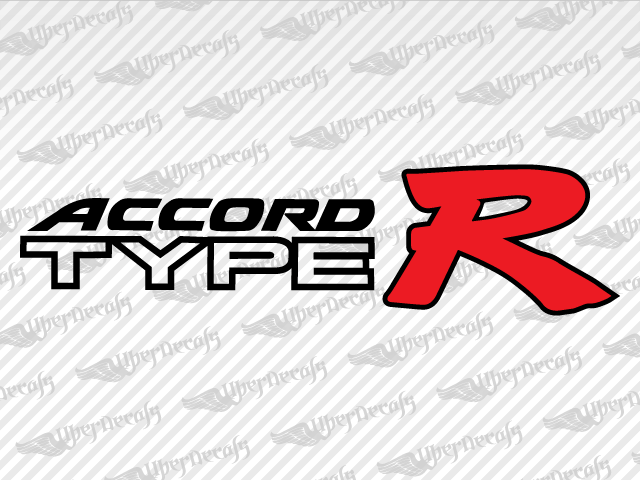Accord type r decals honda truck and car decals vinyl decals