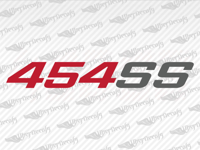 454SS Decals | Chevy, GMC Truck and Car Decals | Vinyl Decals