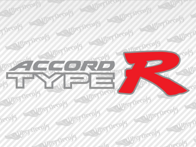 Type R Decal Stickers