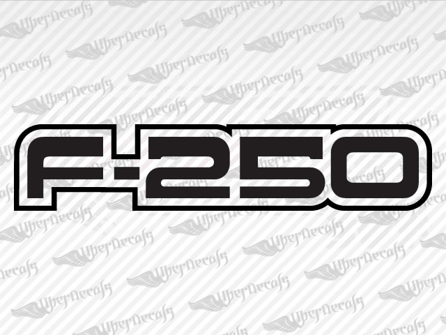 F 250 decals ford truck and car decals vinyl decals