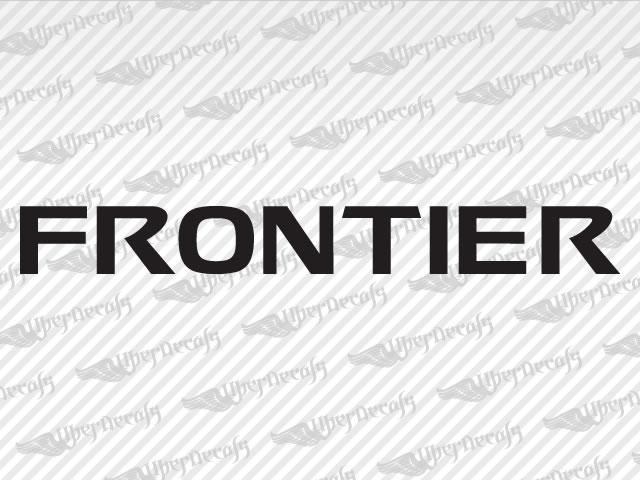 Frontier decals nissan truck and car decals vinyl decals