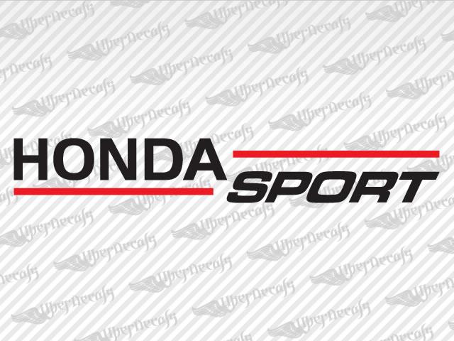 Honda sport decals honda truck and car decals vinyl decals