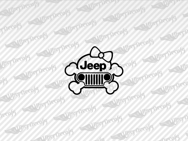 Jeep Skull Logo Decals | Jeep Truck and Car Decals | Vinyl Decals
