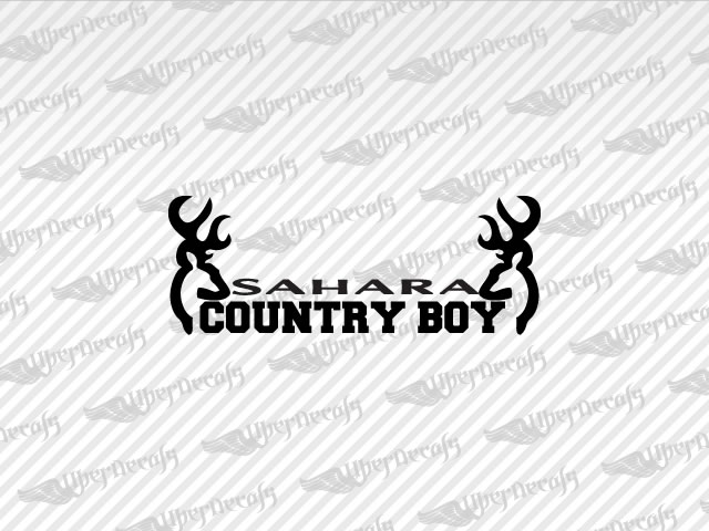 SAHARA COUNTRY BOY Deer Decals | Jeep Truck and Car Decals | Vinyl Decals