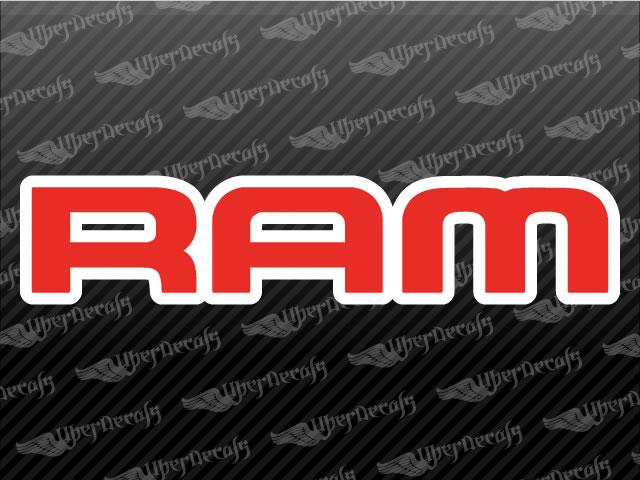 Ram logo decals dodge truck and car decals vinyl decals