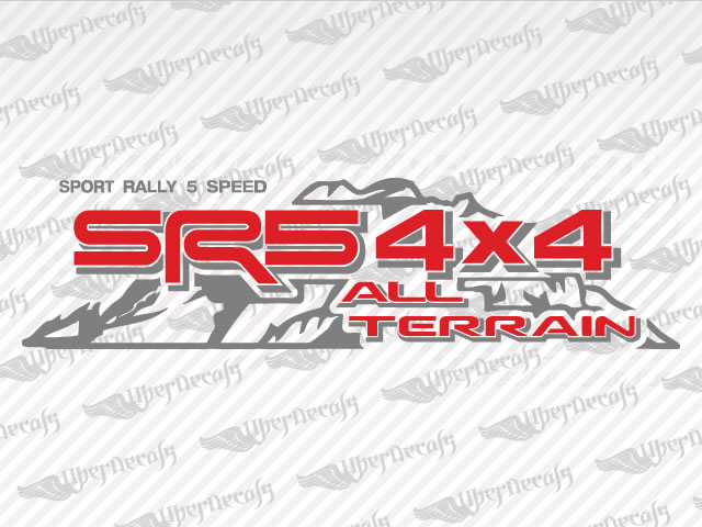 Sr5 4x4 all terrain mountain decals toyota truck and car decals vinyl decals
