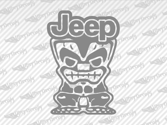 Tiki man jeep logo decals jeep truck and car decals vinyl decals