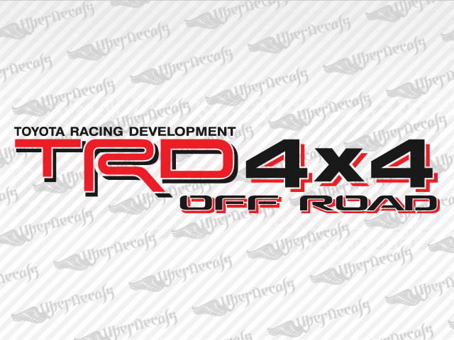 Trd 4x4 off road decals toyota truck and car decals vinyl decals
