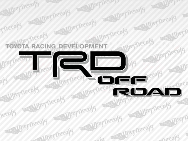 TRD OFF ROAD Decals | Toyota Truck and Car Decals | Vinyl Decals