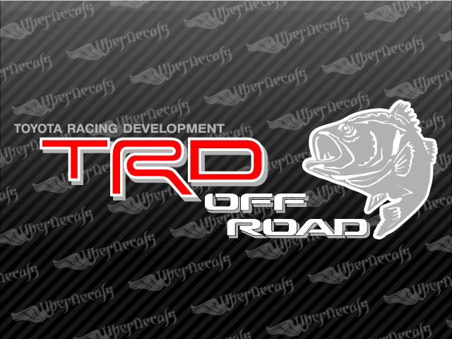 Toyota Trd Off Road Bass Decal Stickers
