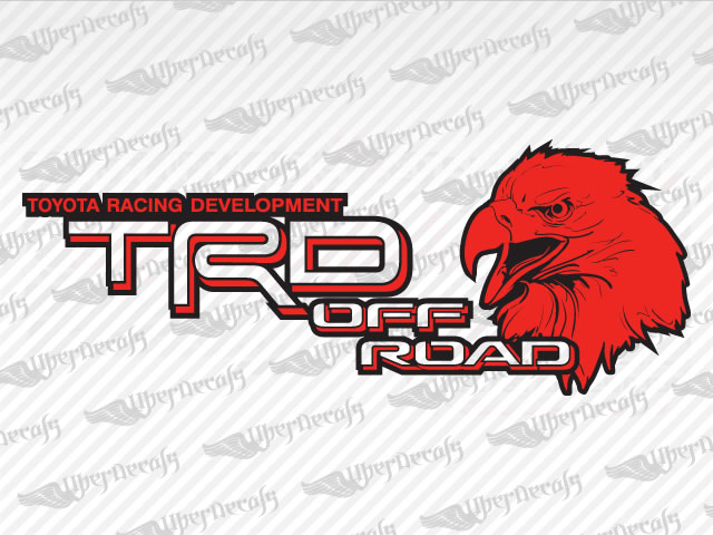 TRD OFF ROAD Eagle Decals | Toyota Truck and Car Decals | Vinyl Decals