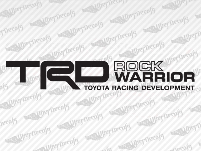 TRD ROCK WARRIOR Decals | Toyota Truck and Car Decals | Vinyl Decals