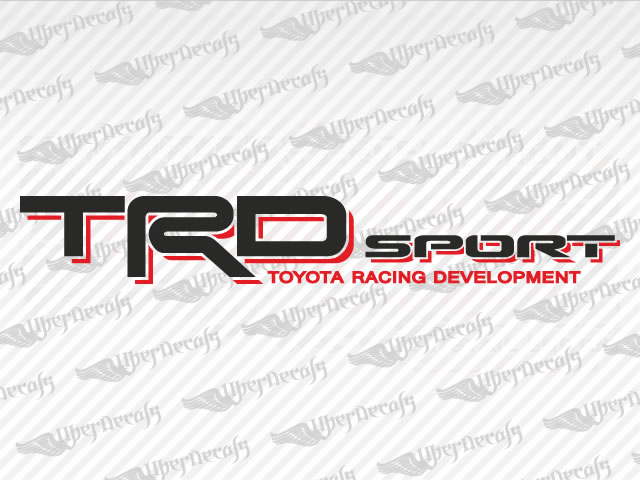 Trd sport decals toyota truck and car decals vinyl decals