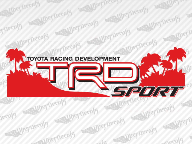 Trd sport beach decals toyota truck and car decals vinyl decals