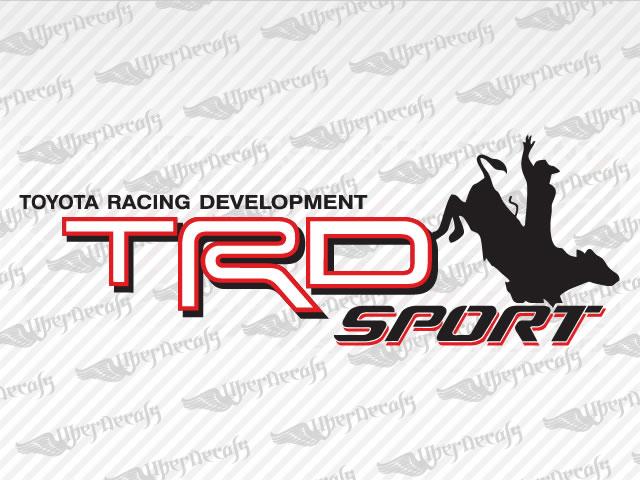 Trd sport bull cowboy decals toyota truck and car decals vinyl decals
