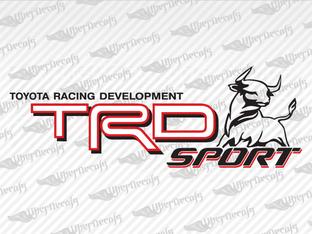 Trd sport bull decals toyota truck and car decals vinyl decals