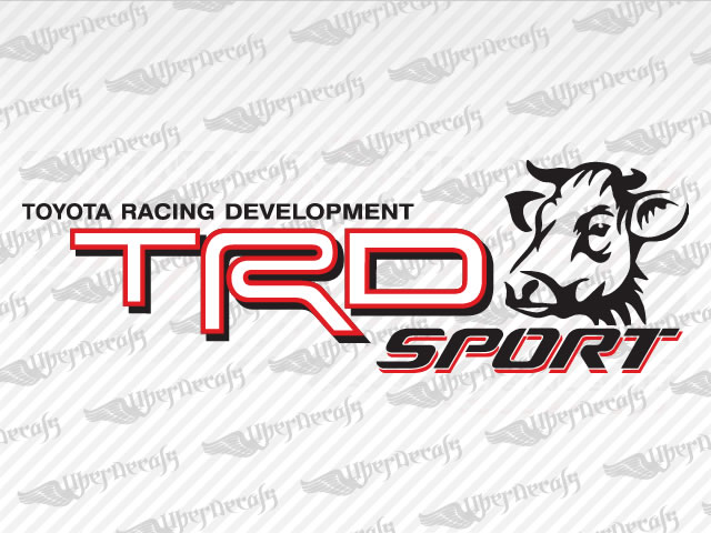 TRD SPORT Bull Decals | Toyota Truck and Car Decals | Vinyl Decals