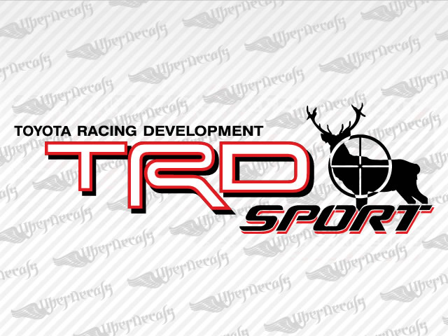Trd sport deer hunter decals toyota truck and car decals vinyl decals