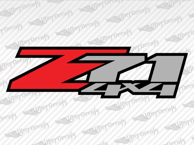 Z71 4x4 decals chevy gmc truck and car decals vinyl decals