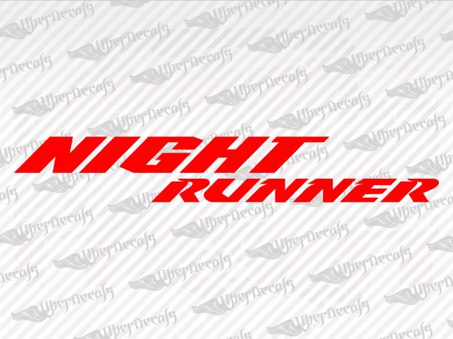 Night Runner Dodge Decal on Dodge Dakota R T Decals