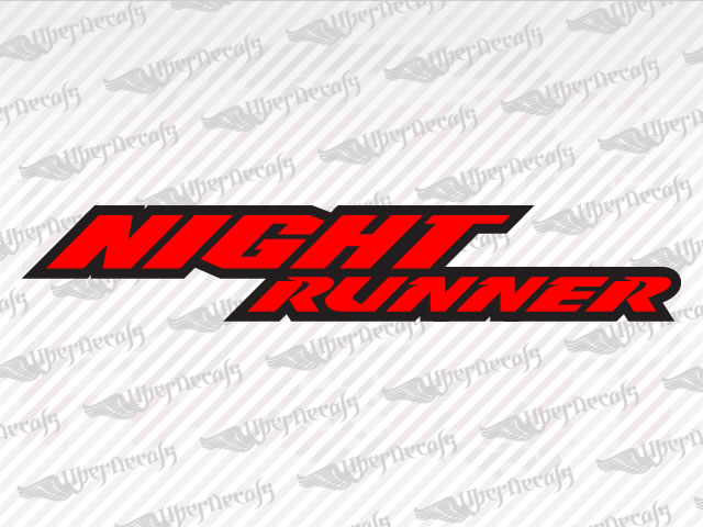 NIGHT RUNNER Decals | Dodge Truck and Car Decals | Vinyl Decals