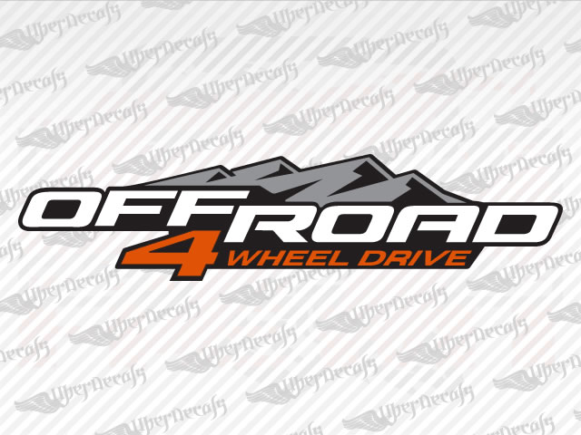 OFF ROAD 4 WHEEL DRIVE Decals | Chevy, GMC Truck and Car Decals | Vinyl Decals