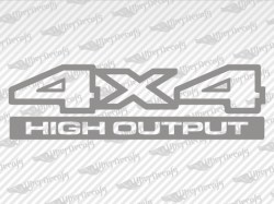 4X4 HlGH OUTPUT Decals | Jeep Truck and Car Decals | Vinyl Decals