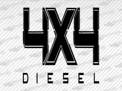 4X4 DIESEL Decals | Ford Truck and Car Decals | Vinyl Decals
