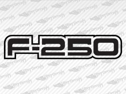 F-250 Decals | Ford Truck and Car Decals | Vinyl Decals