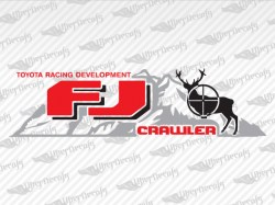 FJ CRAWLER Mountain and Deer Decals | Toyota Truck and Car Decals | Vinyl Decals