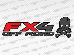 FX4 OFF ROAD Skull Decals | Ford Truck and Car Decals | Vinyl Decals