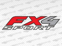 FX4 SPORT Decals | Ford Truck and Car Decals | Vinyl Decals