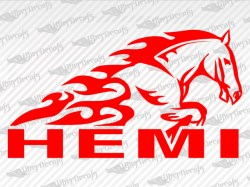 HEMI Horse Decals | Dodge Truck and Car Decals | Vinyl Decals