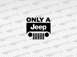 ONLY A Jeep Logo Decals | Jeep Truck and Car Decals | Vinyl Decals