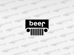 beer Logo Decals | Jeep Truck and Car Decals | Vinyl Decals