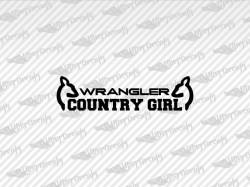WRANGLER COUNTRY GIRL Deer Decals | Jeep Truck and Car Decals | Vinyl Decals