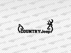 COUNTRY JEEP Deer Decals | Jeep Truck and Car Decals | Vinyl Decals