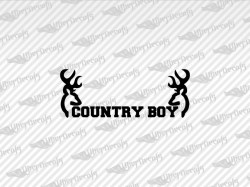 COUNTRY BOY Deerl Decals | Jeep Truck and Car Decals | Vinyl Decals