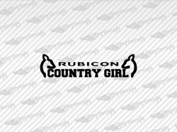 RUBICON COUNTRY GIRL Deer Decals | Jeep Truck and Car Decals | Vinyl Decals
