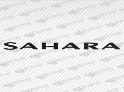 SAHARA Decals | Jeep Truck and Car Decals | Vinyl Decals