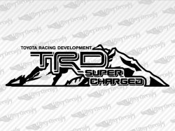 TRD SUPERCHARGED Mountain Decal | Toyota Truck and Car Decals | Vinyl Decals