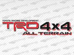 TRD 4X4 ALL TERRAIN Decals | Toyota Truck and Car Decals | Vinyl Decals