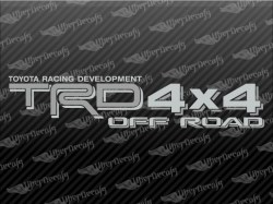 TRD 4X4 OFF ROAD Decals | Toyota Truck and Car Decals | Vinyl Decals