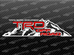 TRD OFF ROAD Mountain Decals | Toyota Truck and Car Decals | Vinyl Decals